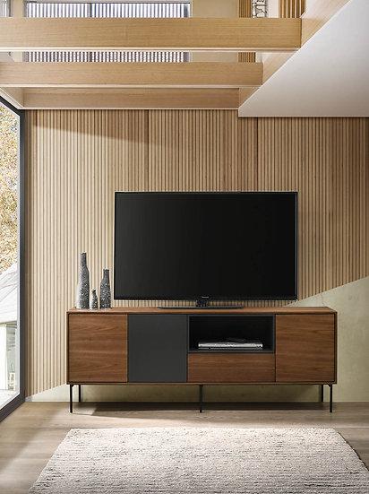 Mueble TV o aparador Milán de 180cm en nogal natural