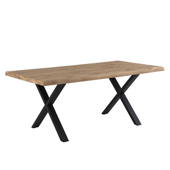 Mesa de comedor industrial Fiore pata negra o blanca