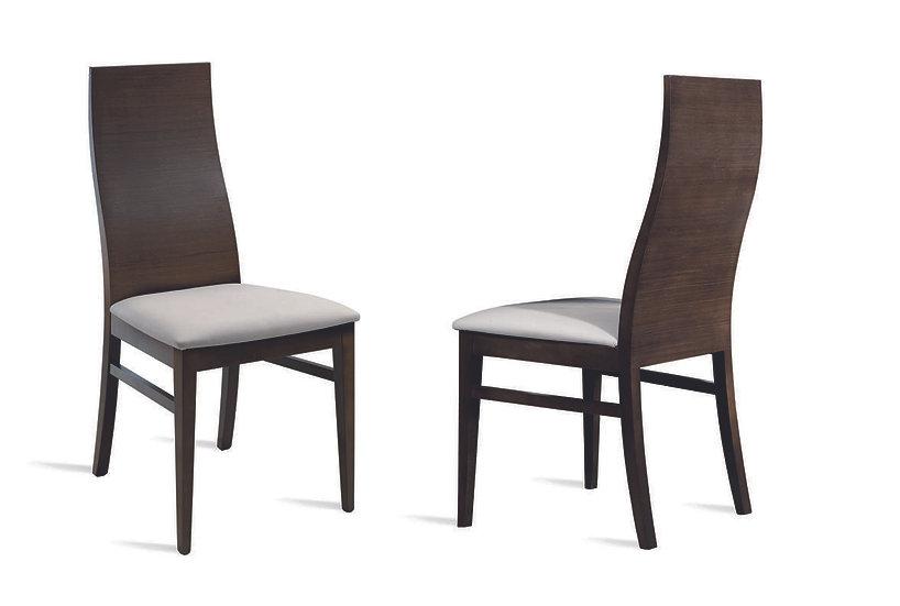 Silla respaldo madera asiento tapizado 242 tela antimanchas Aquaclean a elegir