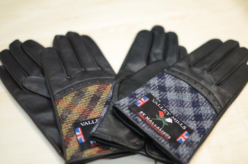 【ブリティッシュウール&レザー手袋】(レディース22cm 13283)