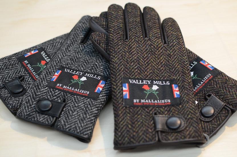 【ブリティッシュウール&レザー手袋】(メンズ25cm 12730)