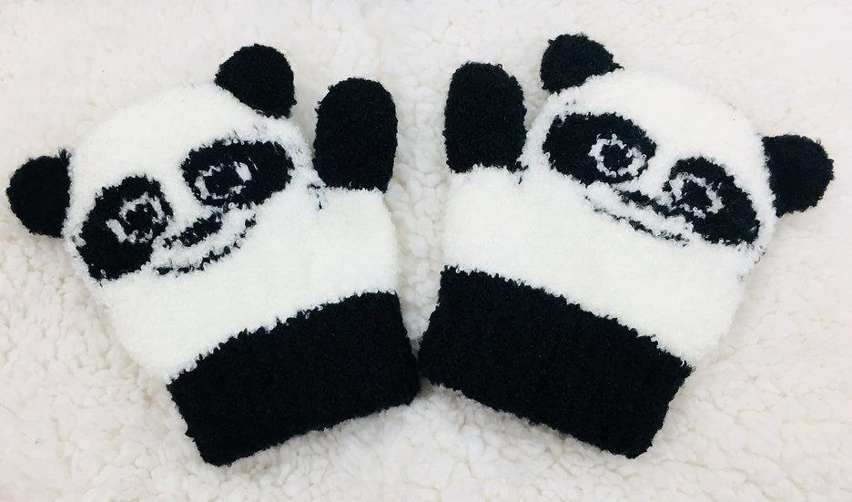 パンダなりきりミトン手袋