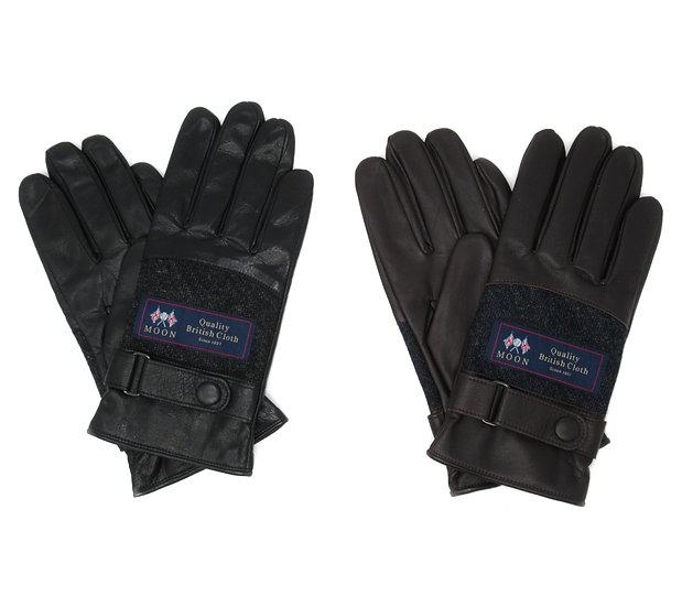 【0012730AT MOON&レザー手袋】(メンズ25cm )