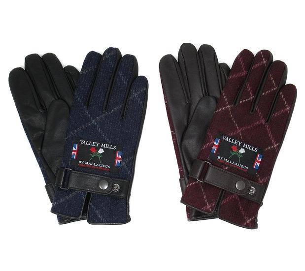 【0012733AT ブリティッシュウール&レザー手袋】(メンズ25cm )