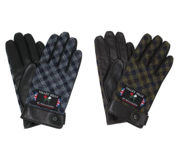 【0012732AT ブリティッシュウール&レザー手袋】(メンズ25cm )