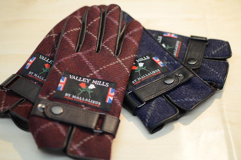 【ブリティッシュウール&レザー手袋】(メンズ25cm 12733)