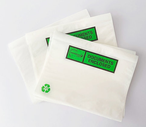Biodegradable A6 Document Enclosed Wallets - 5 pack