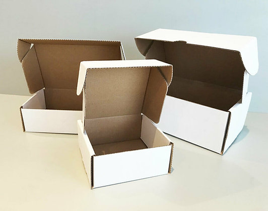 Small Parcel Boxes - Pack of 10 - Various Colours