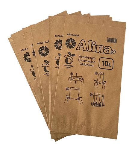 Paper Caddy Liners - 10 Litre - Pack of 10
