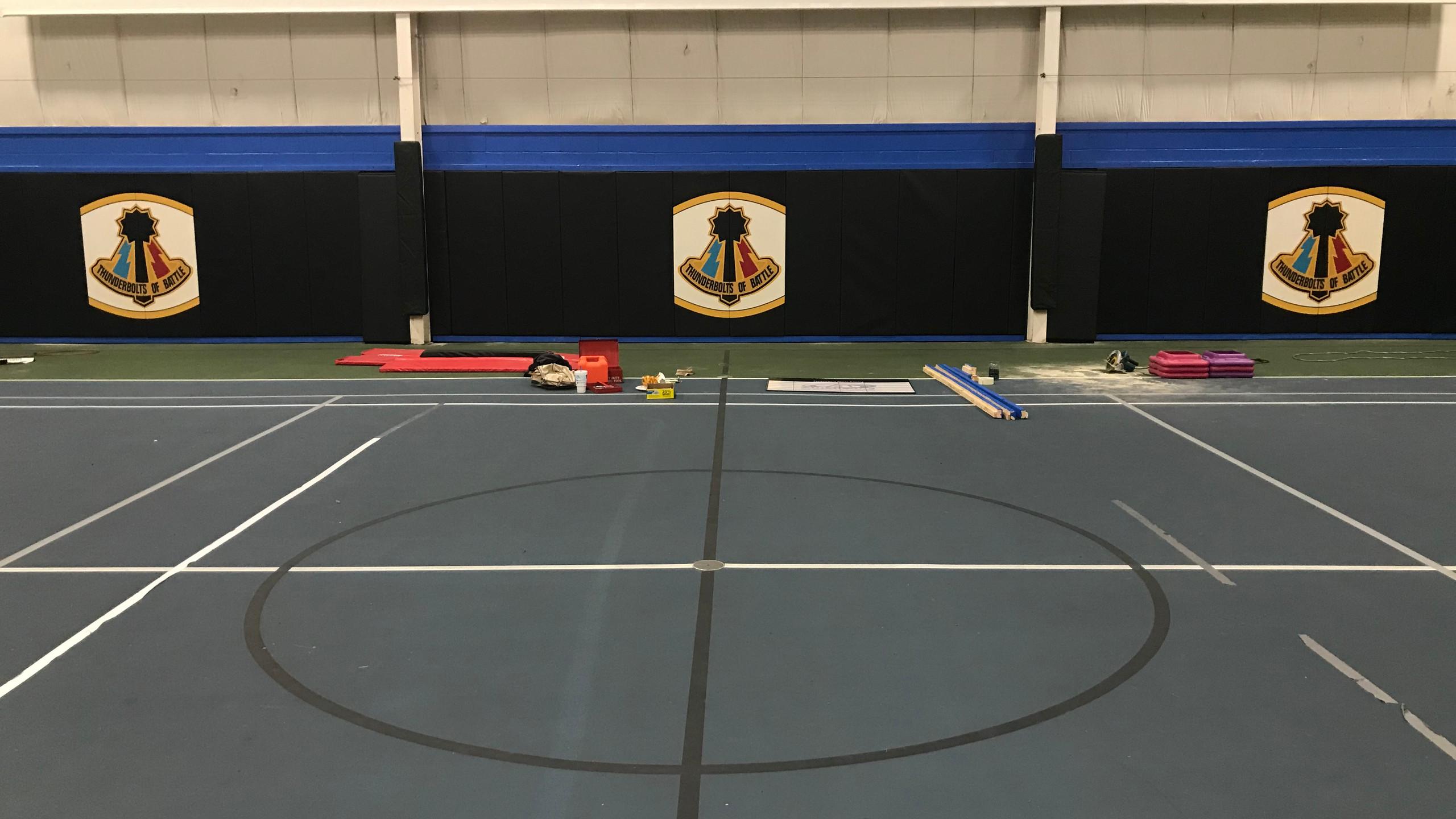 Final wall padding installed