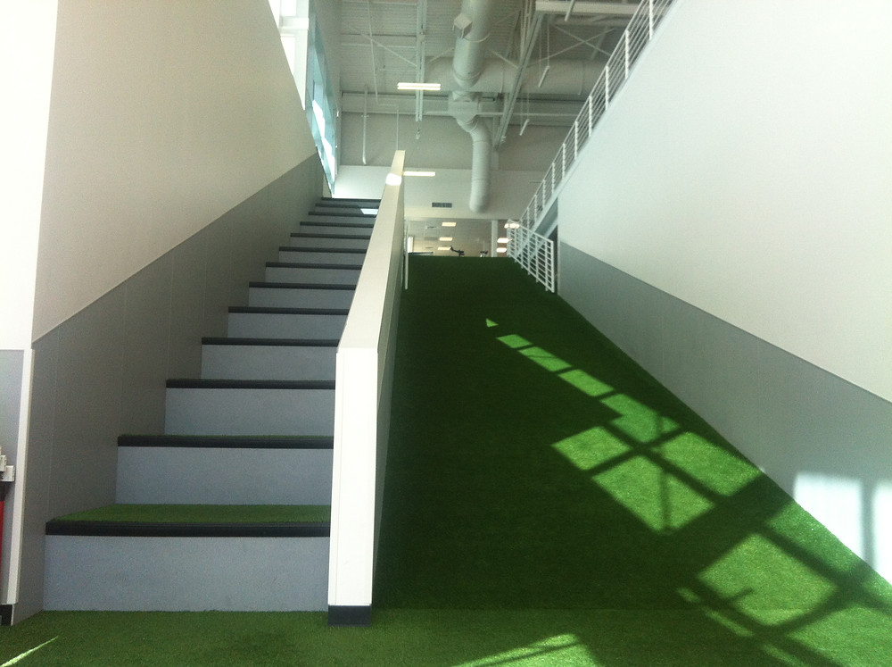 Indoor hill and stairs at the USA Olympic Training Center
