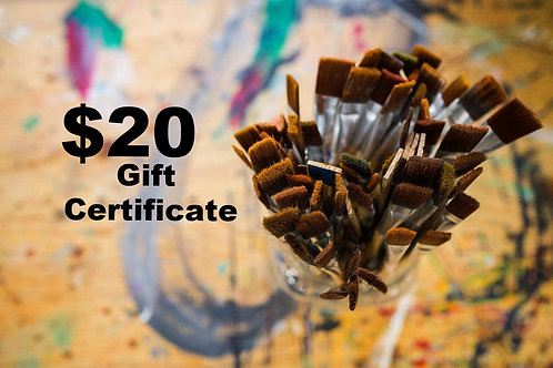$20 Kids Gift Certificate