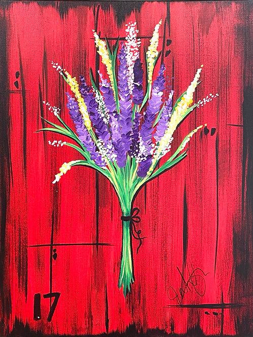#92- Barn door and flowers