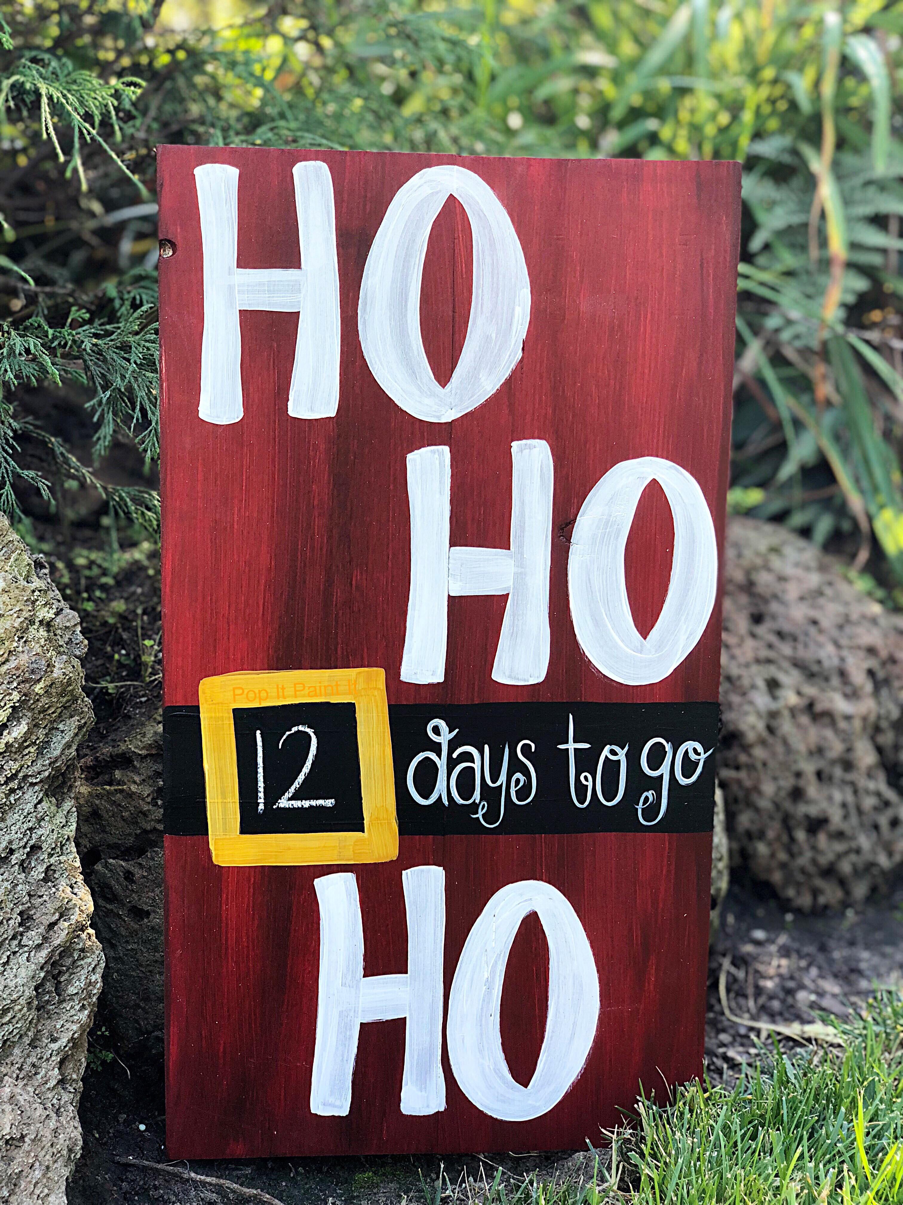 Ho Ho Ho chalkboard