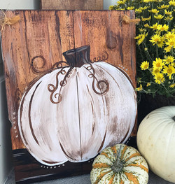 Brown and cream pumpkin