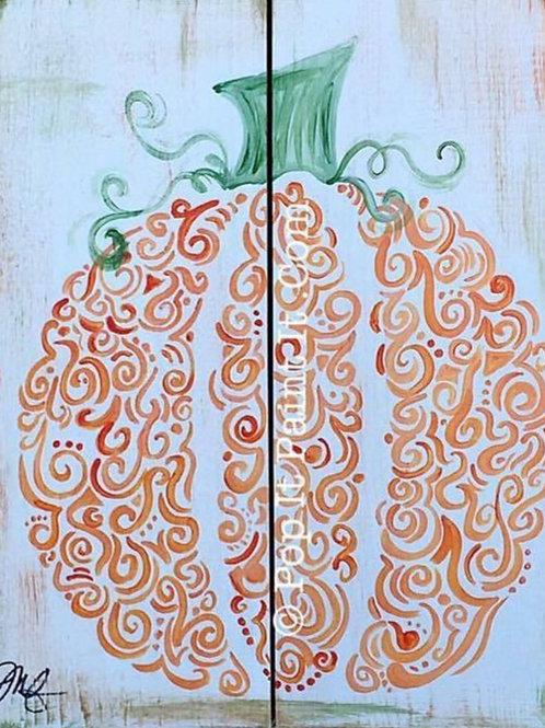 69- Canvas- Curvy Pumpkin