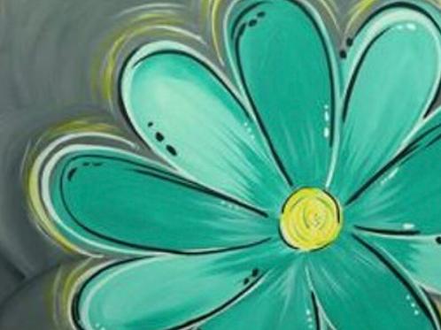 #5- Teal Flower