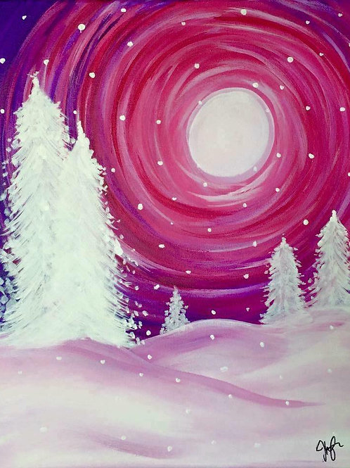 #97- Pink Winter's Night