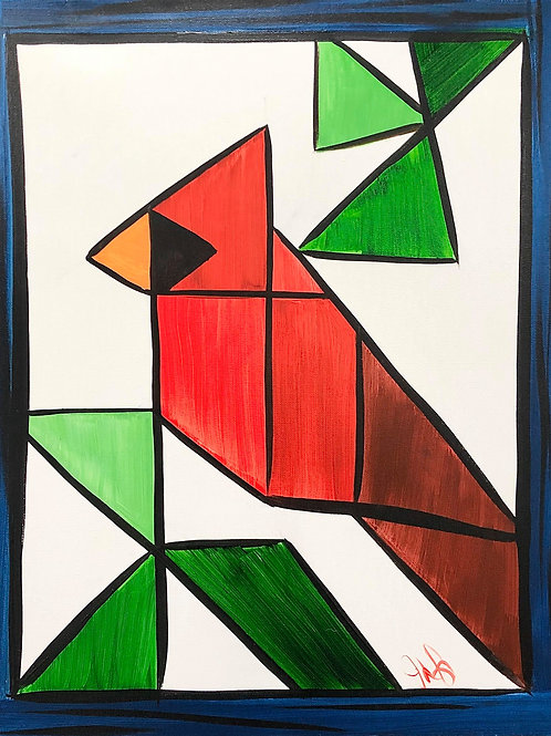 #45- Quilted Cardinal