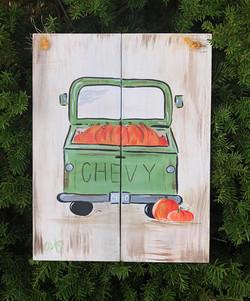 Truck with Pumpkins