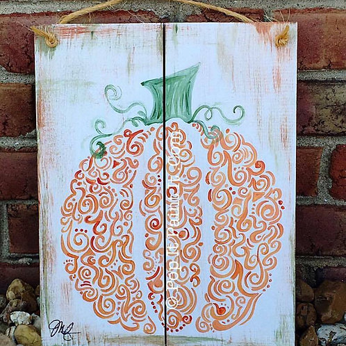 70- Wooden- Curvy Pumpkin