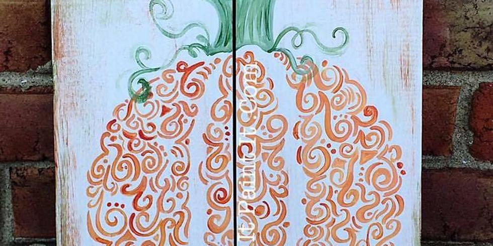 Oct 17- Curvy Pumpkin- Wood or Canvas