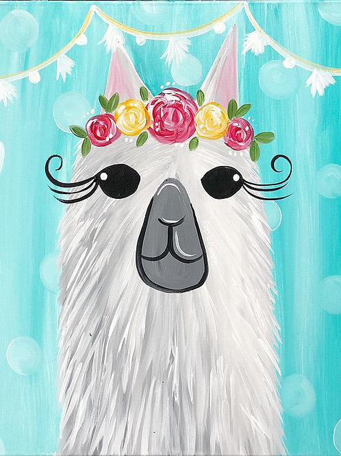 #59- Teal Llama