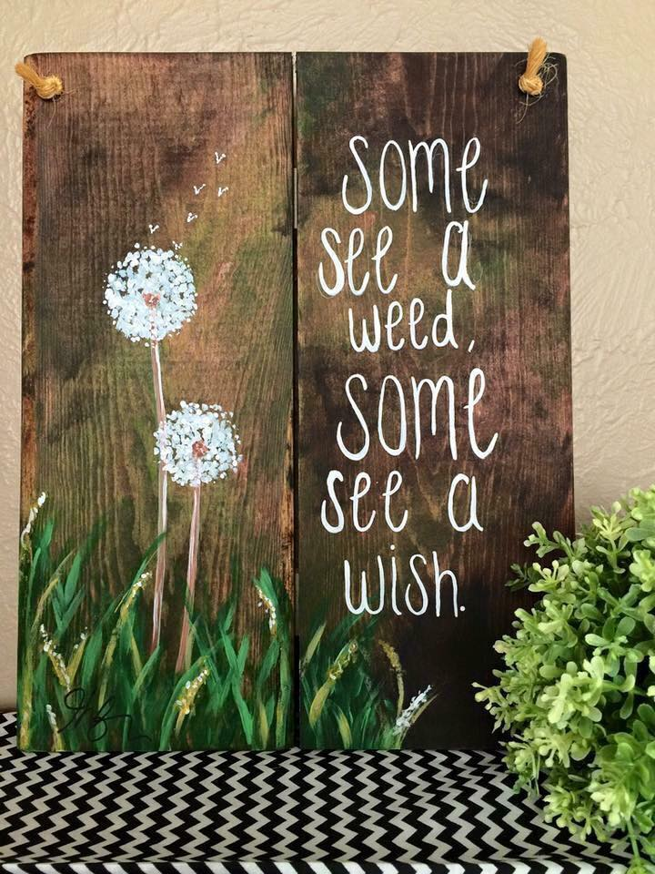 Some see a wish