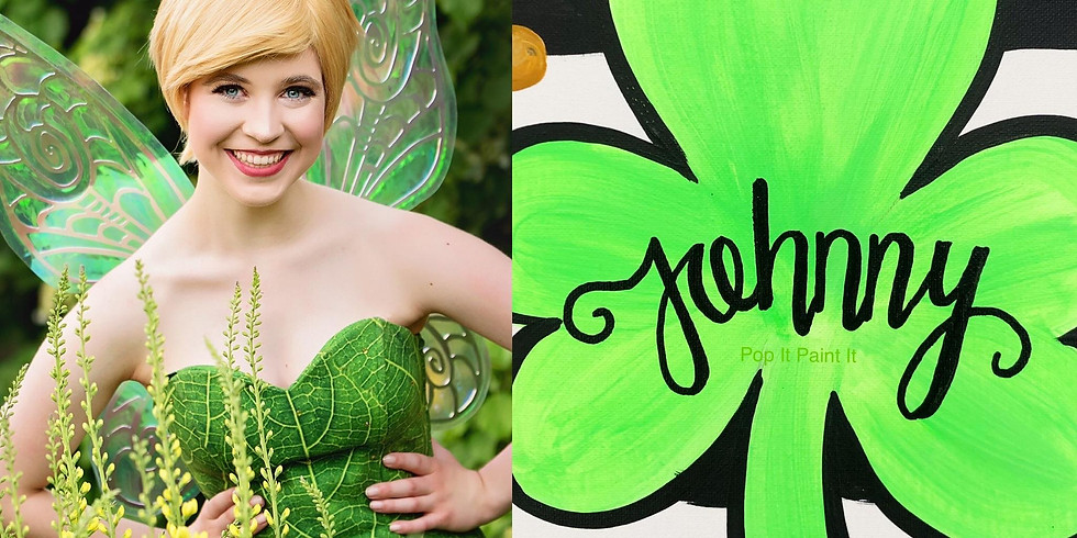 Mar.15- St. Patty's Day Paint and Meet with Tink & Pan