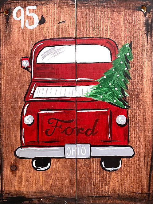 #83- Red Holiday Truck