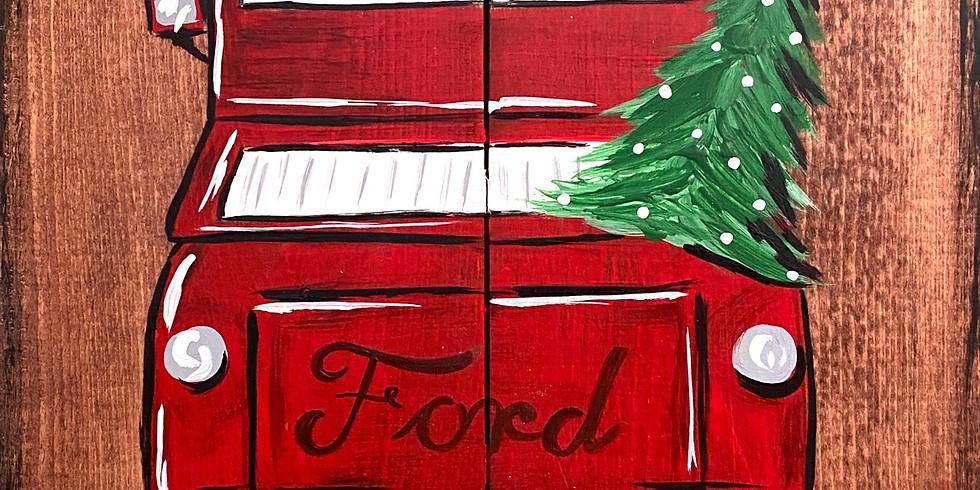 Nov. 17- Wooden Red Truck