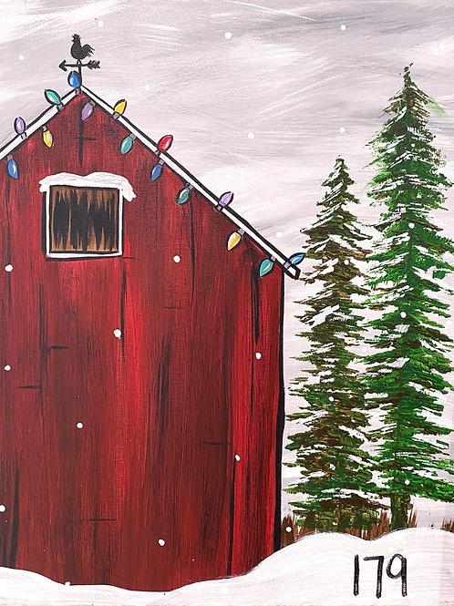#93- Winter Barn