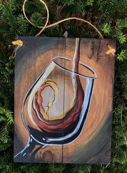 Wooden Wine Glass