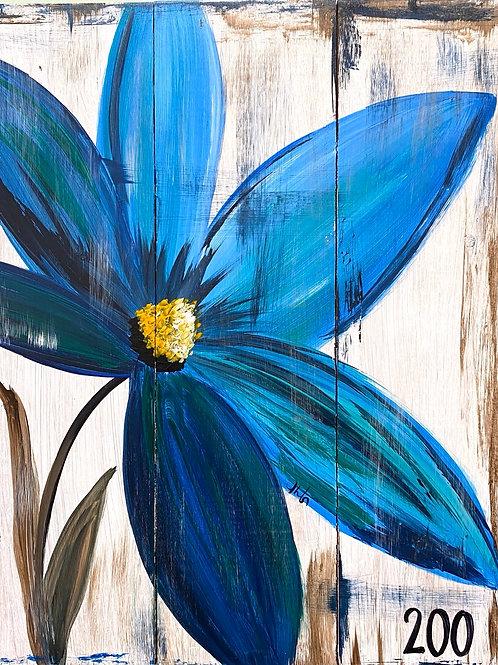 #91- Blue Flower