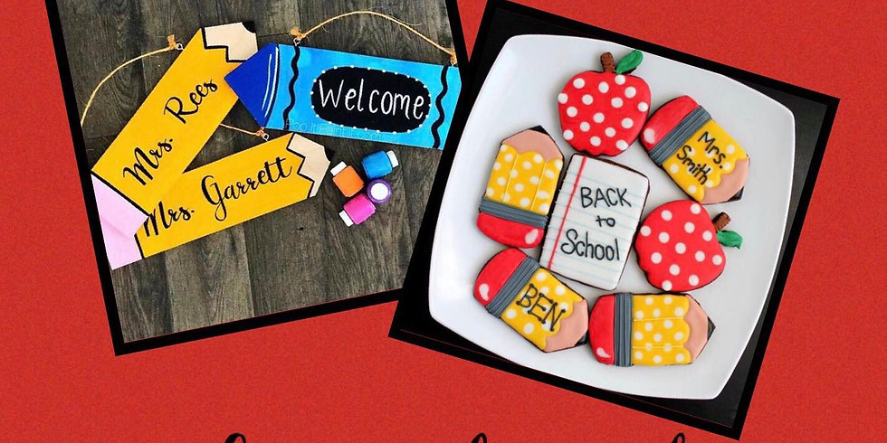 Aug.19- Back to school Cookies and Painting