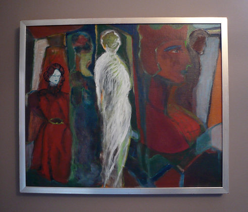 Figure Abstract on Canvas