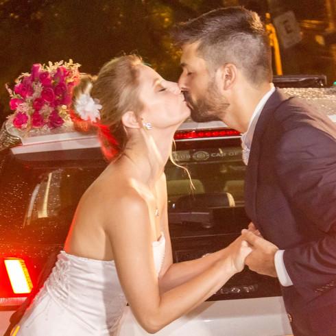Beijo romântico