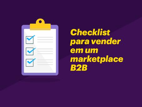 Checklist para vender em um marketplace B2B