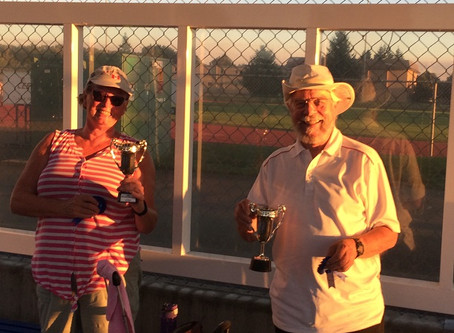 Wednesday Night Pairs Holds it Final Match for the Season