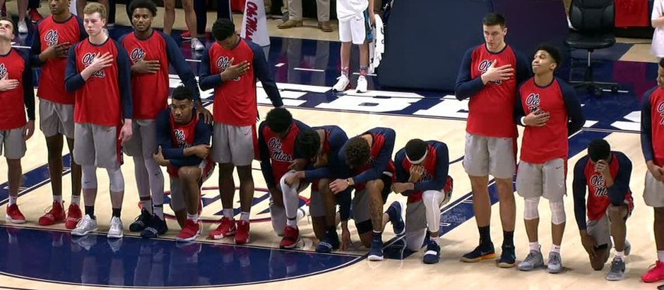 University of Mississippi Basketball Players Kneel During National Anthem Amid Confederate Protests