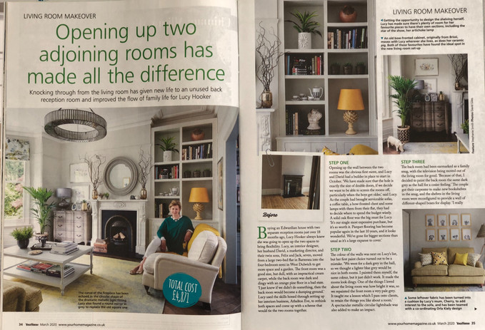 Opening up two adjoining rooms has made all the difference