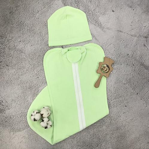 Пеленка - кокон в комплекте с шапочкой