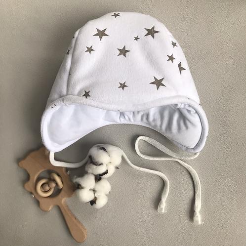 Утепленная шапочка «Звёздочки»