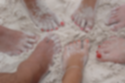 A circle of Women's feet