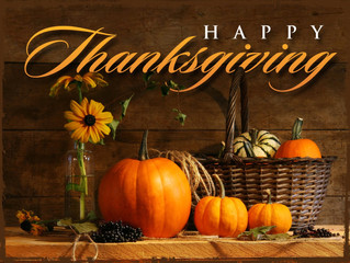 We wish you all a wonderful Thanksgiving!