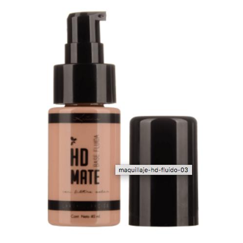 Maquillaje fluído HD MATE con atomizador