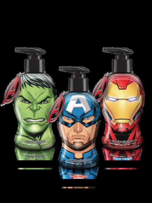 Jabón liquido avengers x 300 ml.