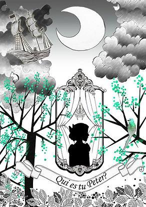 PETER PAN, ILLUSTRATION, AQUARELLE, dessin , illustratrice, wendy, cabane, enfant, draw, image,croquis,silhouette,esquisse,graphique,aquarelle,crayon,gouache,motif,portrait,tableau