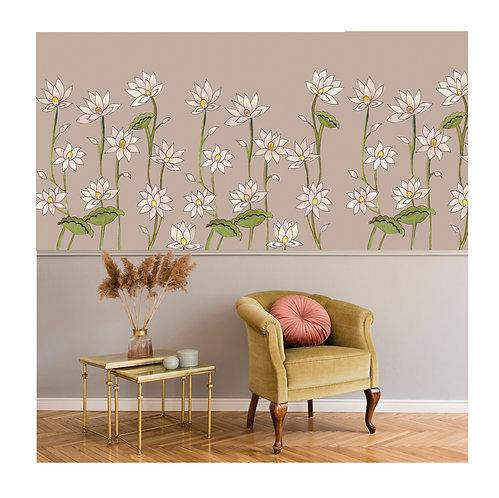 flower, white, papierpeint, tapisserie, panoramique, wallpaper, walldeco, fresque, papelpintado, panoramic, decormural