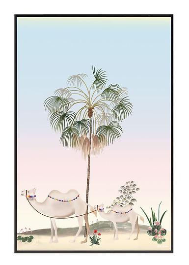 Tableau , dessin, chameau, camel, illustration, draw, déco, paper, designer, mllemouns